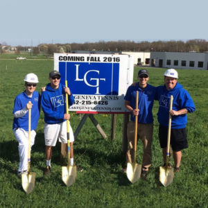 John Reed, Frank Giuffre, Alex Mory, and Paul Lauterbach at the LGT ground breaking ceremony.