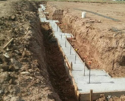 Poured LGT footings
