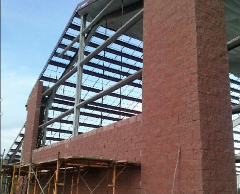 The brick portion of LGT is almost done.
